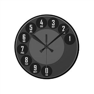 Old Fashion Phone Round Clock