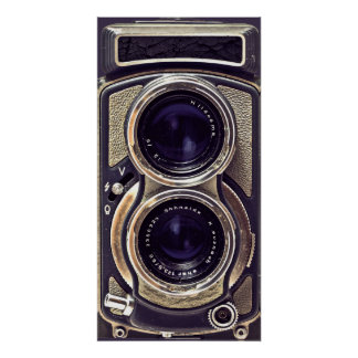 Old-fashioned camera poster