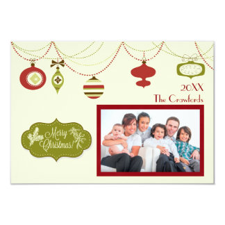 Old Fashioned Christmas - 3x5 Christmas Card