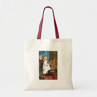 Old Fashioned Christmas Greetings Tote Bag