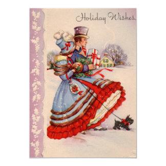 Old Fashioned Christmas Shopping Invitation