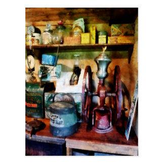 Old Fashioned Coffee Grinder Postcard