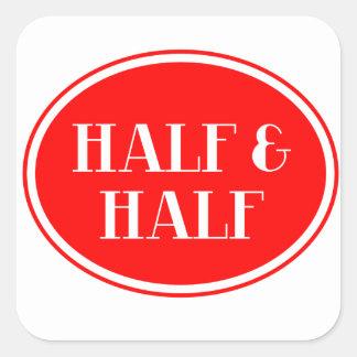 Old Fashioned Dairy Red Bottle Label Half & Half Sticker