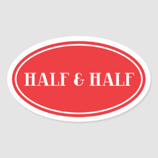 Old Fashioned Dairy Red Oval Label Half and Half Sticker