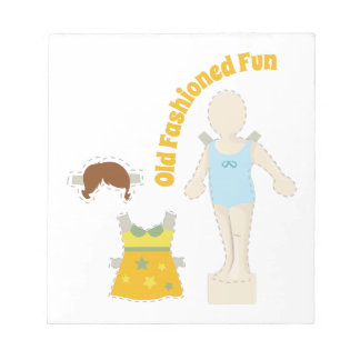Old Fashioned Fun Notepad
