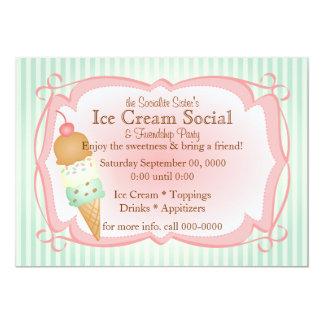 Old Fashioned Ice Cream Social! 13 Cm X 18 Cm Invitation Card