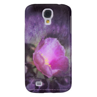 Old fashioned pink rose, purple texture galaxy s4 case