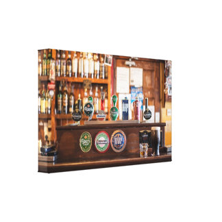 Old Fashioned Pub Gallery Wrapped Canvas