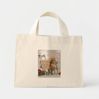 Old-fashioned Puppy Christmas Mini Tote Bag