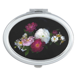 Old Fashioned Roses Floral Compact Mirror