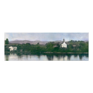 Old Free Meeting House at Bingham, Maine Poster