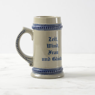 Old German Saying Proverb Stein Time Wind Woman..
