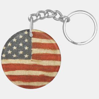 Old Glory American Flag Key Ring