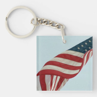Old Glory Magnet Key Ring