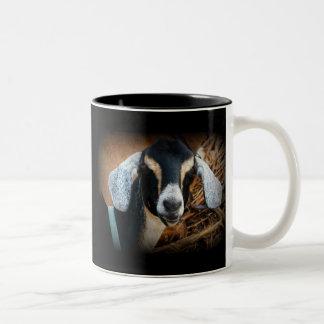 Old Goat Nubian Portrait Photo Two-Tone Coffee Mug