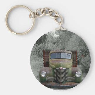 Old Green International Truck Key Ring