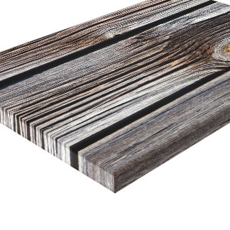 Old grey wooden boards canvas print