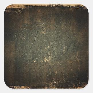 Old Grunge Paper Square Sticker