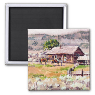 OLD HOMESTEAD by SHARON SHARPE Magnet
