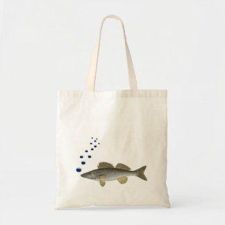 Old illustration with fish and bubbles tote bag
