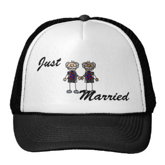 Old Interracial Couple Trucker Hat