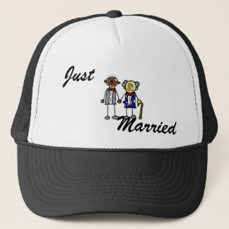 Old Interracial Gay Couple - Asian Black Trucker Hat
