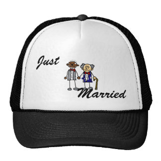 Old Interracial Gay Couple Mesh Hat