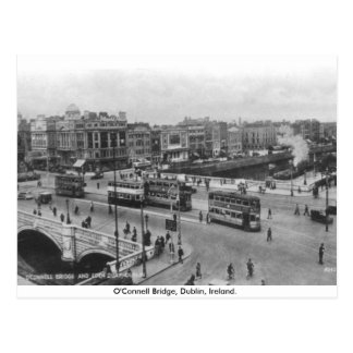 Old Ireland, 1930's O'Connell Bridge, Dublin Postcard
