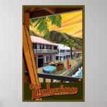 Old Lahaina, Hawaii Surf Travel Poster