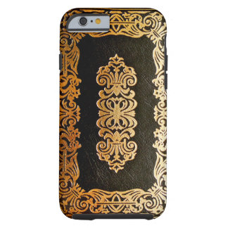 Old Leather Black & Gold Book Cover Tough iPhone 6 Case
