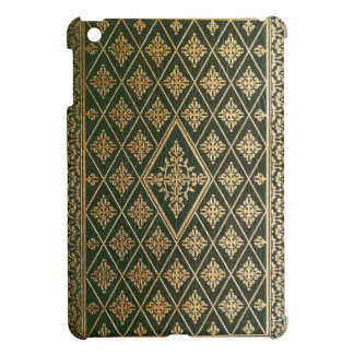 Old Leather Green & Gold Gilded Book Cover iPad Mini Cases
