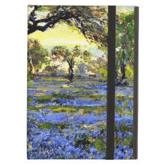 Old Live Oak Tree and Bluebells - Onderdonk art Case For iPad Air