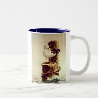OLD MAN SEAGULL by SHARON SHARPE Mugs