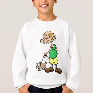 Old Man Walking the Dog Sweatshirt