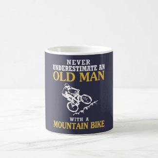 OLD MAN WITH A MOUNTAIN BIKE COFFEE MUG