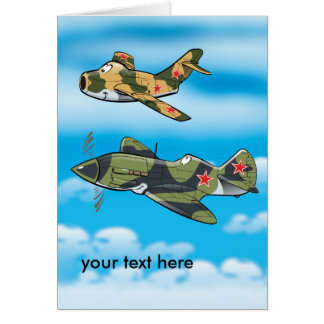 Old migs greeting card