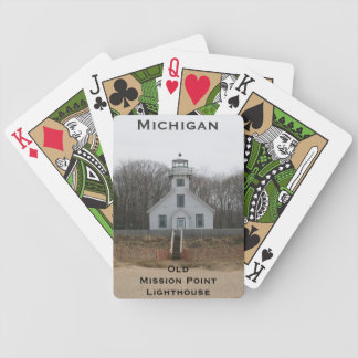 Old Mission Point Lighthouse Playing Cards
