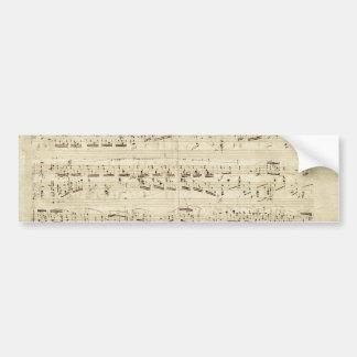 Old Music Notes - Chopin Music Sheet Bumper Sticker