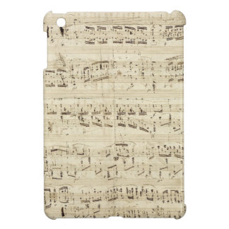 Old Music Notes - Chopin Music Sheet iPad Mini Cases