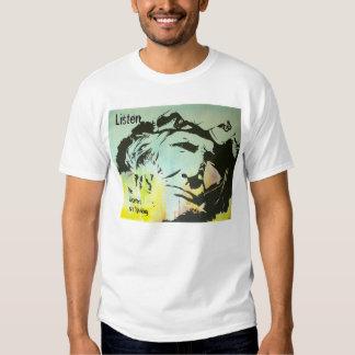 "Old Navajo man tee shirt ""Listen"""