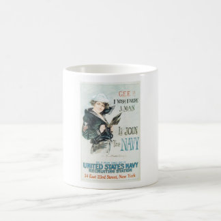 Old Navy Poster circa 1918 Coffee Mug