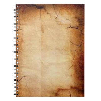 Old Paper Vintage Look Spiral Notebook