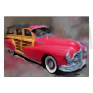 Old Pontiac Woodie Card