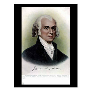 Old Postcard - US President James Madison