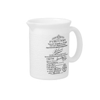 Old publicity perfumes, celestial details drink pitcher