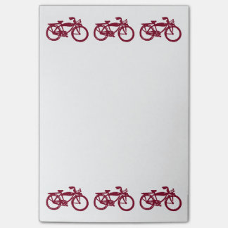 Old red bike Post-it notes