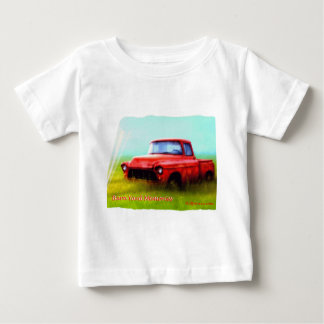 Old Red Pickup Barn Yard Memories Baby T-Shirt