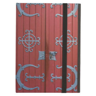Old Red Wood Doors With Gray Iron Supports iPad Air Case