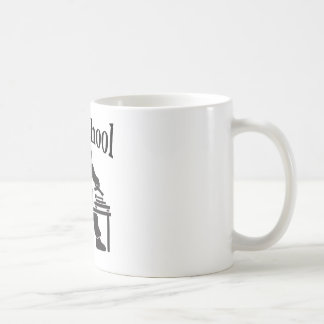 old school basic white mug