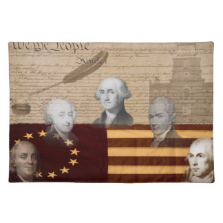 OLD SCHOOL FOUNDING FATHERS PLACEMAT